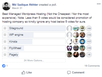 managed WP host poll